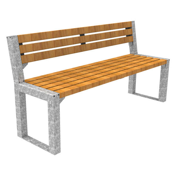Street furniture seating bench seat hardwood FalcoAcero